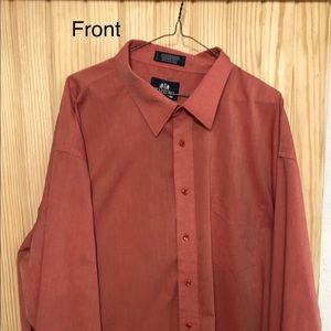 Men's Big Fit Salmon Colored Dress Shirt